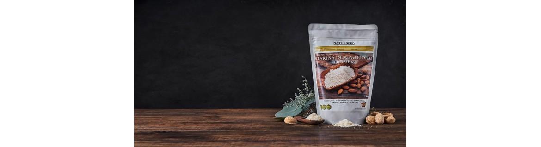 Harinas ecológicas de coco, almendra, proteica y psyllium 99% de pureza